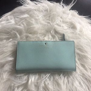 Kate spade baby blue wallet